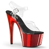 Plateau High Heels Adore-708 rot chrome