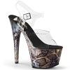Plateau High Heels Adore-708 Snake