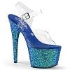 Plateau High Heels Adore-708LG blau