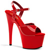 Plateau High Heels Adore-709 rot