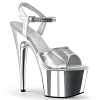 Plateau High Heels Adore-709 silber/chrome