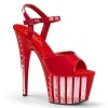 Plateau High Heels Adore-709VLRS rot
