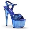 Plateau High Heels Adore-710GT blau