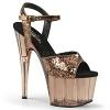 Plateau High Heels Adore-710GT bronze