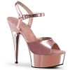 Plateau High Heels Delight-609 rose gold