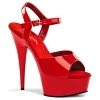 Plateau High Heels Delight-609 rot