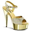 Plateau High Heels Delight-609G gold
