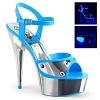 Plateau High Heels Delight-609NC blau