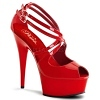Plateau High Heels Delight-612 rot