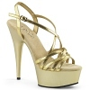 Plateau High Heels Delight-613 gold