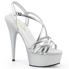 Plateau High Heels Delight-613 silber