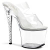 Plateau High Heels Diamond-702 transparent