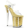 Plateau High Heels Flamingo-808CH gold