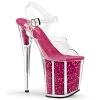 Plateau High Heels Flamingo-808G pink