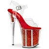 Plateau High Heels Flamingo-808G rot