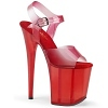 Plateau High Heels Flamingo-808N-T rot