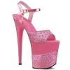 Plateau High Heels Flamingo-809-2G pink