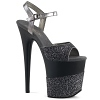 Plateau High Heels Flamingo-809-2G schwarz