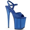 Plateau High Heels Flamingo-809 blau