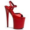 Plateau High Heels Flamingo-809 rot