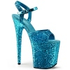 Plateau High Heels Flamingo-810LG blau