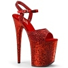 Plateau High Heels Flamingo-810LG rot