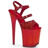 Plateau High Heels Flamingo-874 rot