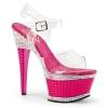 Plateau High Heels Illusion-658 pink