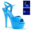 Plateau High Heels Kiss-209UV blau
