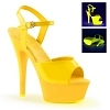 Plateau High Heels Kiss-209UV gelb