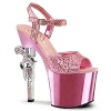 Plateau High Heels Revolver-709 baby pink