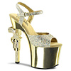 Plateau High Heels Revolver-709 gold