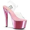 Plateau High Heels Sky-308 Chrome Sandalette baby pink