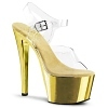 Plateau High Heels Sky-308 Chrome Sandalette gold