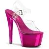 Plateau High Heels Sky-308 Chrome Sandalette pink