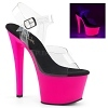 Plateau High Heels Sky-308UV pink