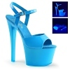 Plateau High Heels Sky-309UV blau