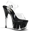 Plateau High Heels Spiky-608 schwarz