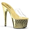 Plateau High Heels Stardust-701 gold