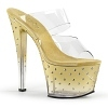 Plateau High Heels Stardust-702T gold