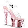 Plateau High Heels Stardust-708 baby pink