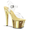 Plateau High Heels Stardust-708 gold