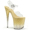 Plateau High Heels Stardust-808T gold