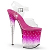 Plateau High Heels Stardust-808T pink