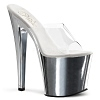 Plateau High Heels Taboo-701 chrome