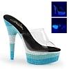 Plateau Pantolette Delight-601UVS blau