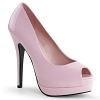 Plateau Peep Toe Pumps Bella-12 baby pink