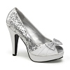 Plateau Pumps Bettie-10 silber