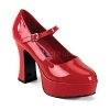 Plateau Pumps MaryJane-50 rot