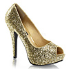 Plateau Pumps Twinkle-16G gold